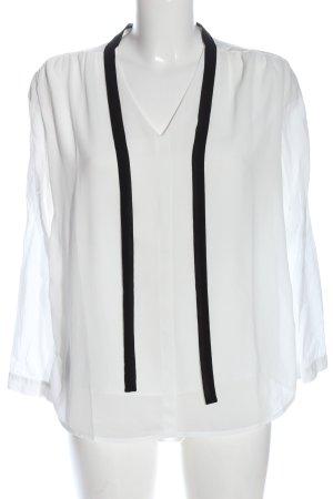 Tom Tailor Hemd-Bluse weiß-schwarz Business-Look