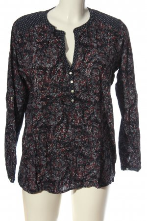 Tom Tailor Hemd-Bluse Allover-Druck Casual-Look