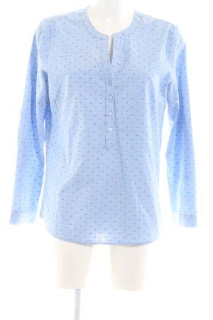 Tom Tailor Hemd-Bluse blau-rot Allover-Druck Business-Look