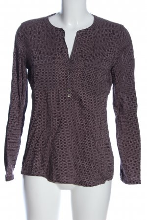 Tom Tailor Hemd-Bluse pink-braun Allover-Druck Casual-Look