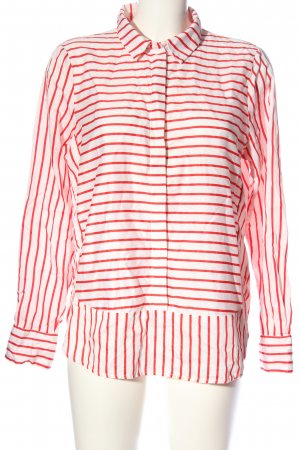 Tom Tailor Hemd-Bluse weiß-rot Allover-Druck Casual-Look
