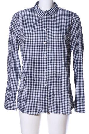 Tom Tailor Hemd-Bluse weiß-schwarz Karomuster Business-Look