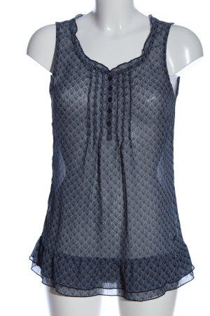 Tom Tailor Hemd-Bluse blau-hellgrau Allover-Druck Casual-Look