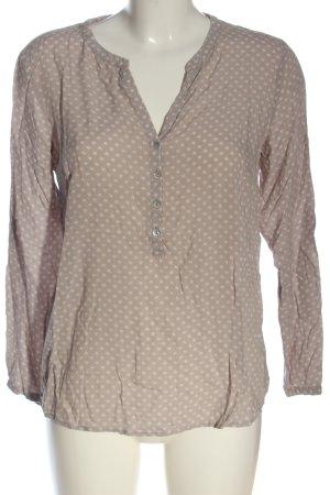 Tom Tailor Blusa-camisa marrón estampado repetido sobre toda la superficie