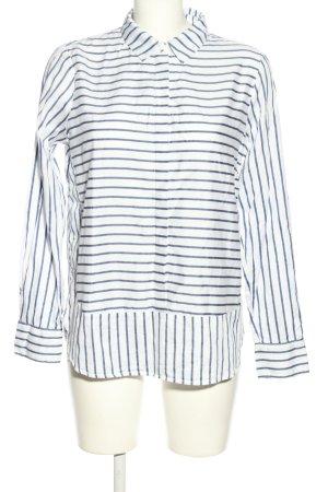 Tom Tailor Hemd-Bluse weiß-blau Streifenmuster Business-Look