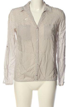 Tom Tailor Hemd-Bluse braun-wollweiß Allover-Druck Casual-Look