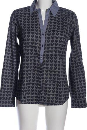 Tom Tailor Hemd-Bluse blau-weiß abstraktes Muster Casual-Look