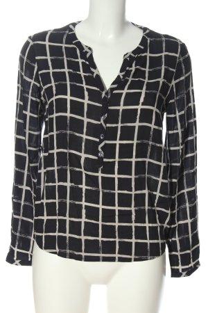 Tom Tailor Hemd-Bluse schwarz-weiß Karomuster Business-Look