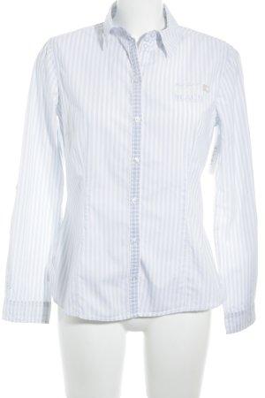 Tom Tailor Hemd-Bluse weiß-babyblau Streifenmuster Business-Look