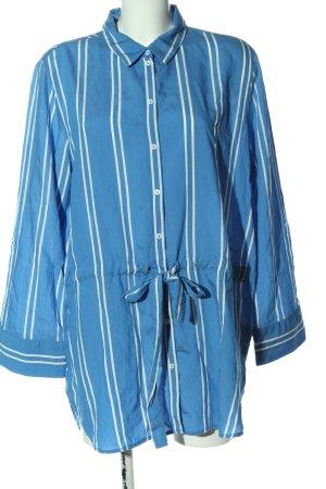 Tom Tailor Hemdblousejurk blauw-wit gestreept patroon casual uitstraling