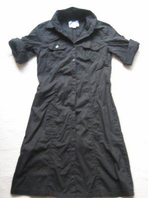 tom tailor hemdkleid blusenkleid neuwertig schwarz gr. xs 34