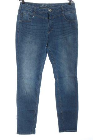 Tom Tailor Jeansy z wysokim stanem niebieski Bawełna