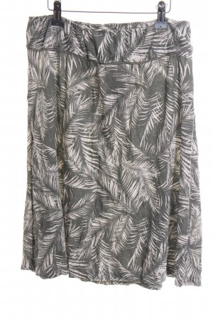 Tom Tailor Jupe taille haute blanc-gris clair imprimé allover