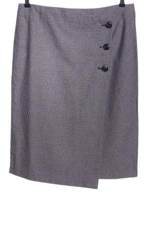 Tom Tailor High Waist Skirt light grey-black check pattern business style