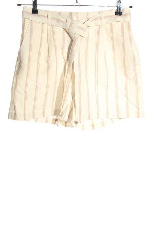 Tom Tailor Pantalón corto de talle alto estampado a rayas look casual
