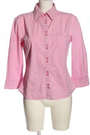 Tom Tailor Koszula w kratę różowy-w kolorze białej wełny Wzór w kratkę