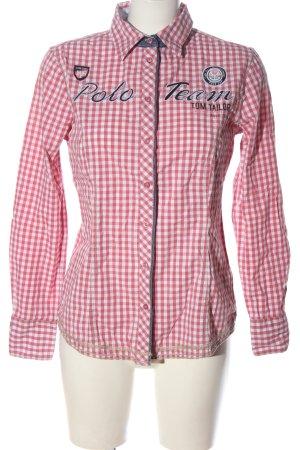 Tom Tailor Koszula w kratę czerwony-biały Wzór w kratkę W stylu casual