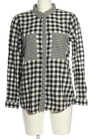 Tom Tailor Holzfällerhemd weiß-schwarz Allover-Druck Casual-Look