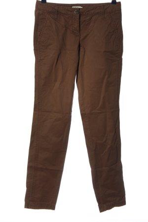 Tom Tailor pantalón de cintura baja marrón look casual
