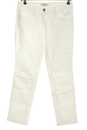 Tom Tailor pantalón de cintura baja blanco look casual