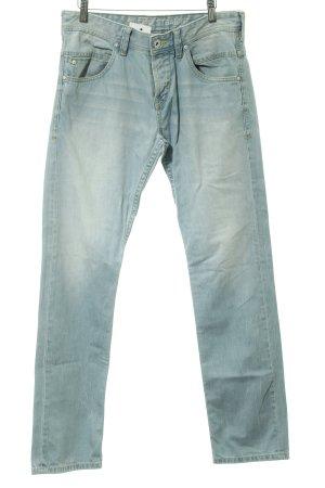 Tom Tailor Jeansy z prostymi nogawkami błękitny Bawełna