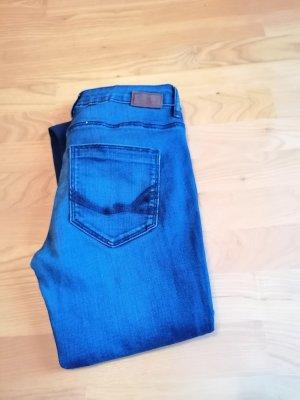 Tom Tailor Denim Tube Jeans dark blue-blue cotton