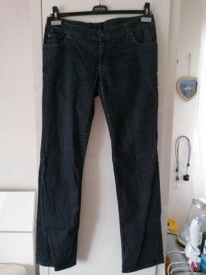 Tom Tailor Jeansy z prostymi nogawkami ciemnoniebieski