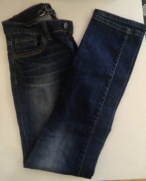 Tom Tailor Jeansy z prostymi nogawkami ciemnoniebieski-niebieski Denim