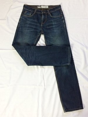 Tom Tailor Jeans a gamba dritta blu scuro Cotone