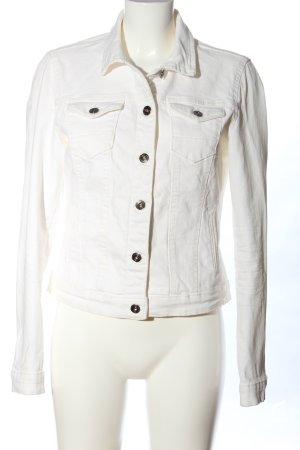 Tom Tailor Blazer en jean blanc style décontracté