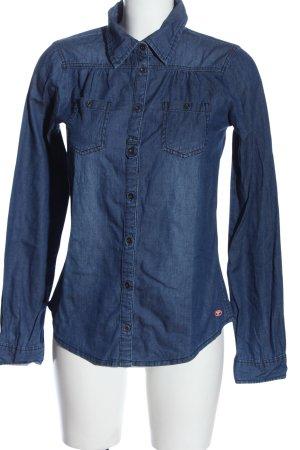 Tom Tailor Camicia denim blu stile casual