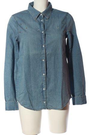 Tom Tailor Chemise en jean bleu style décontracté