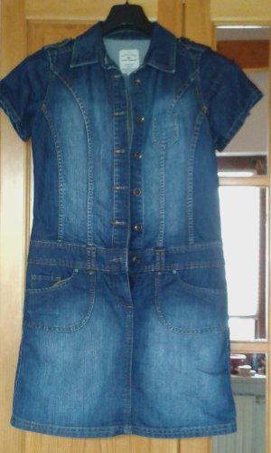 Tom Tailor Denim Jeansjurk blauw Gemengd weefsel