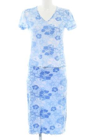 Tom Tailor Jersey twin set blauw bloemenprint casual uitstraling