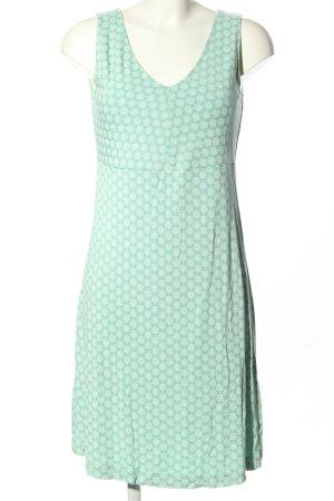 Tom Tailor Sukienka z dżerseju turkusowy-biały Abstrakcyjny wzór