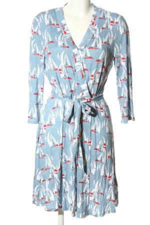 Tom Tailor Jerseykleid blau-weiß Allover-Druck Casual-Look