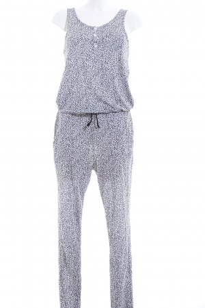 Tom Tailor Jumpsuit schwarz-weiß abstraktes Muster Casual-Look
