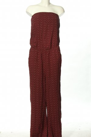Tom Tailor Jumpsuit Allover-Druck Casual-Look