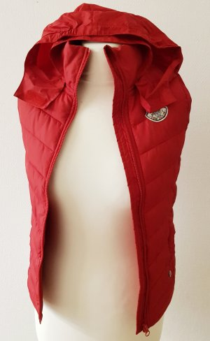 Tom Tailor Quilted Gilet red
