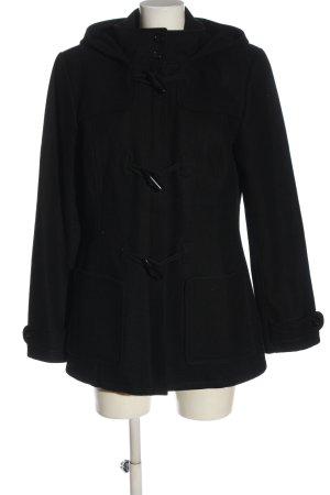 Tom Tailor Abrigo con capucha negro look casual