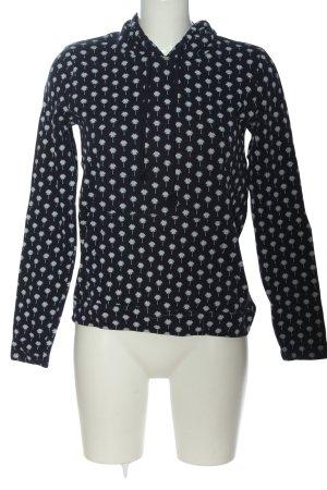 Tom Tailor Kapuzensweatshirt schwarz-hellgrau Allover-Druck Casual-Look