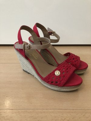 Tom Tailor Wedge Sandals brick red