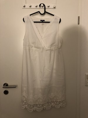 Tom Tailor Vestido Hippie blanco-blanco puro