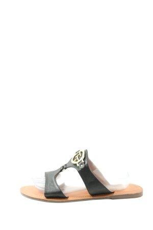 Tom Tailor Comfortabele sandalen zwart casual uitstraling