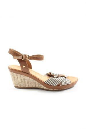 Tom Tailor Komfort-Sandalen Streifenmuster Elegant