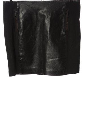 Tom Tailor Jupe en cuir synthétique noir style décontracté
