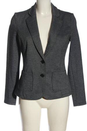 Tom Tailor Blazer court noir-blanc motif à carreaux style d'affaires