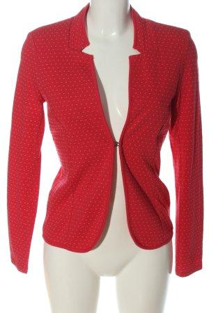 Tom Tailor Kurz-Blazer rot-weiß Allover-Druck Casual-Look