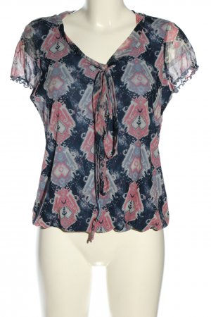 Tom Tailor Kurzarm-Bluse abstraktes Muster Casual-Look