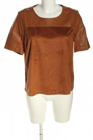 Tom Tailor Kurzarm-Bluse bronzefarben Casual-Look